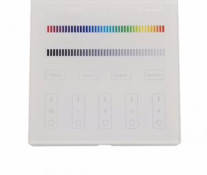 Стенно дистанционно за RGBW контролер 4 зони, 2.4 GHz