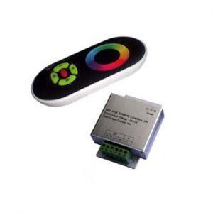RGB  контролер с RF rainbow дистанционно (черно)