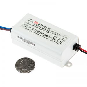 LED ТРАНСФОРМАТОР - ВОДОУСТОЙЧИВ, 12 W, 12V/MW, IP42